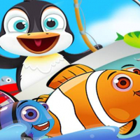 Fish Games For Kids | Trawling Penguin Games