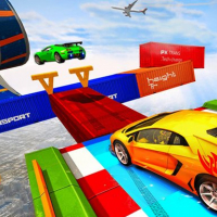 Sky Ramp Car Mega Stunts Big Jump